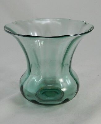 Fine antique Steuben art glass Pomona green vase