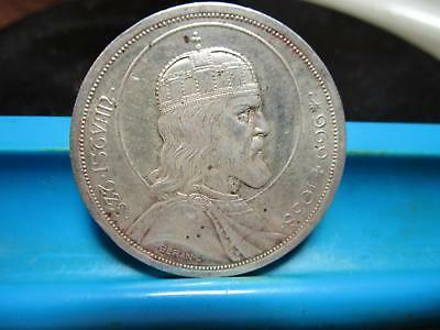 1938 - Hungary - Five Pengo - Silver Crown                          (A34)
