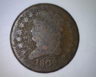 Scarce Early Date Half Cent 1809 -    - Free Shipping