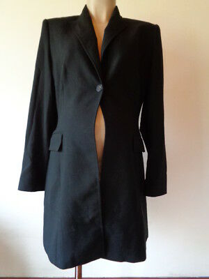Next Maternity Stylish Smart Long Black Jacket Coat Size 14