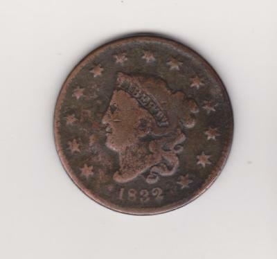 1832 Large Penny 185 Years Old--Nice Color/ Detail    Free Shipping