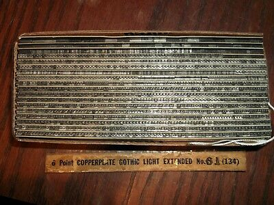 VINTAGE 6pt COPPERPLATE GOTHIC LIGHT EX. No.61 LETTERPRESS FOUNDRY TYPE PRINTING