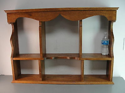 Solid Oak Wood Mantle Shelf Vanity Dresser Decorative Shadowbox Standing Display
