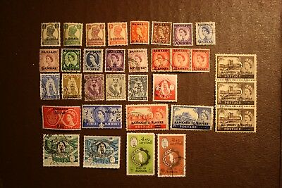 BAHRAIN. Early selection of 33 stamps. mint and used