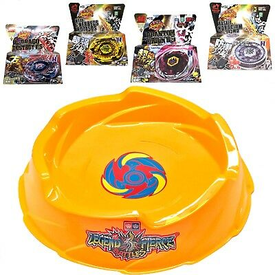 Ultimate Pegasus Beystadium Set 4 Beyblades w/ Launchers + Yellow Stadium