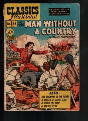 Classics Illustrated #63 GD- 1.8 The Man Without A Country HRN 62 Original!!!