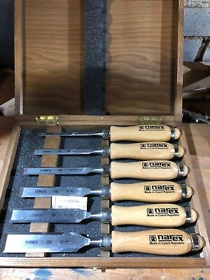 Narex Chisels 6-piece set in wooden box (made in Czech Republic)