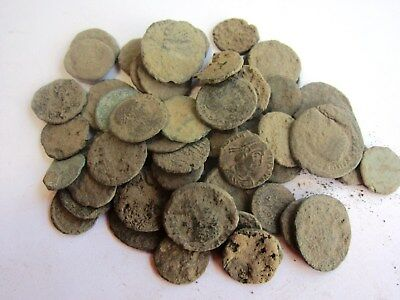 10 - ANCIENT DIRTY UNCLEANED ROMAN COINS APROX 150BC-450AD-Fun Hobby