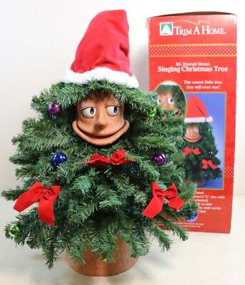 Gemmy 1996 DOUGLAS FIR The Talking Animated Christmas TREE Eyes Mouth Move Sings