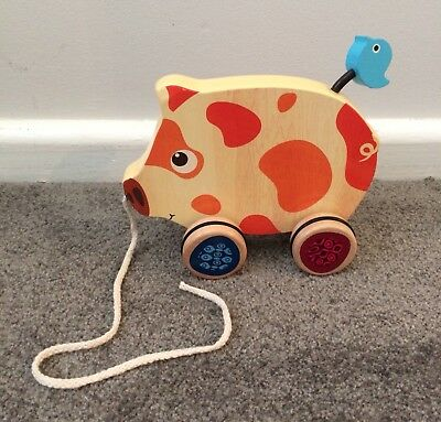 Wooden Toy Pull Along Pig (B Toy Brand) Pick Up 3155