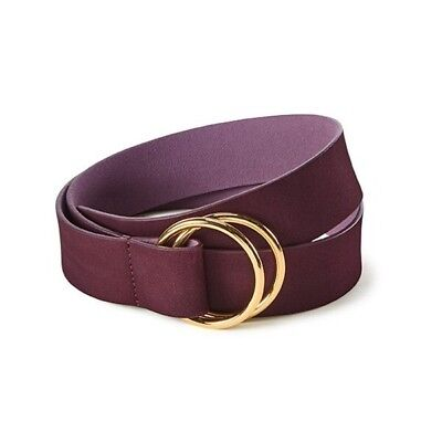 New With Tags CAbi Cinch Belt Leather Rhubarb