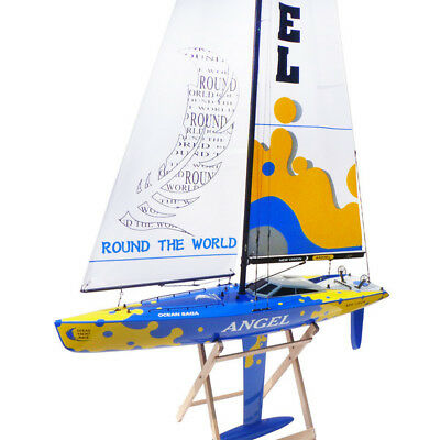 angel wind power racing 920mm long fiberglass rc yacht complete