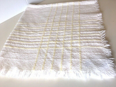 CHURCHILL Handwoven Yellow and White Plaid BABY Blanket Christening Baptism