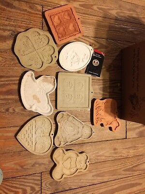 Mixed Lot Of 9 Ceramic Cookie/ Paper Molds