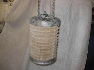 Antique Accordion Lantern  Cloth Body  Candle Light