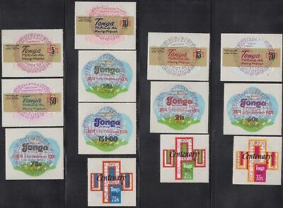 Tonga 1974 complete UPU set of 13, FDI commemorative postmarks
