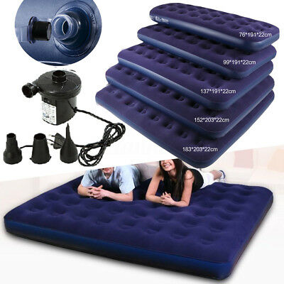Inflatable Travel Car Air Bed Sleeping Mattress Couch Sofa Camping Seat + Pump