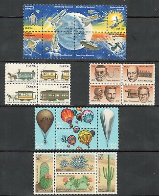 Mint Lot Of 5 Sets US Postage Stamps Collection Free Shipping (JZ4)