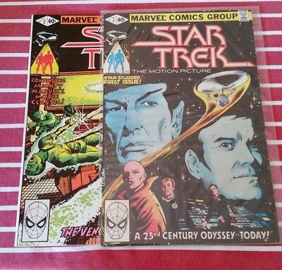 Star Trek 1,2    Marvel comics 1980 vf-nm Free postage