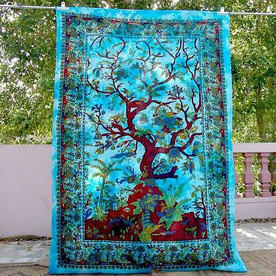 Indian Mandala Tree Of Life Wall Hanging Tapestry Throw Decor ethnic art jyuy