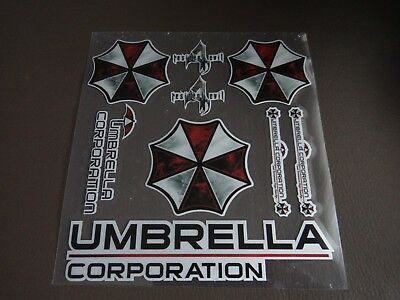 SET 8 stk  Resident Evil Umbrella Corporation Auto  Aufkleber