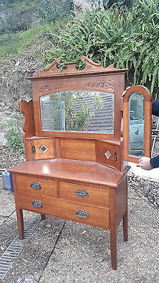 Antique Dresser / Dressing table 3 mirrors