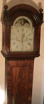 "Antique  Oak "" Nottingham  "" Moon Dial Longcase / Grandfather Clock"