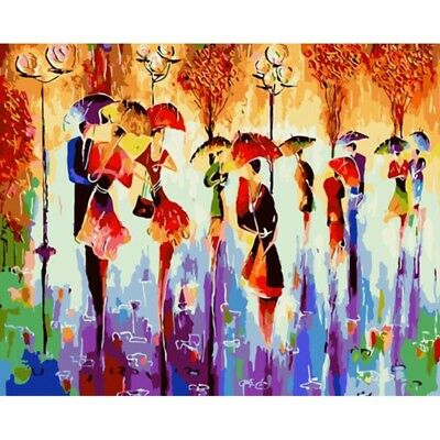 Abstract Dancers Frameless DIY Oil Painting Paint By Numbers On Canvas Art Decor
