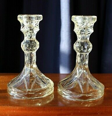 Vintage Australian Depression Glass Candle Holders By CCG