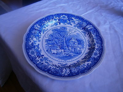 spode plate county scenes wood land cottage (s3634-a0)