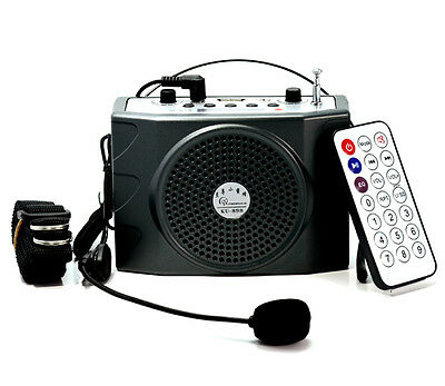 Mini 25W Portable Waistband Voice Booster PA Amplifier Loudspeaker FM Microphone