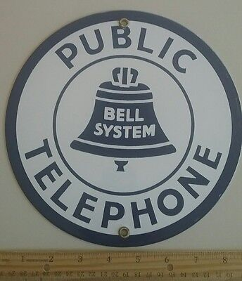 """Public Telephone """"bell System"""" Sign"""