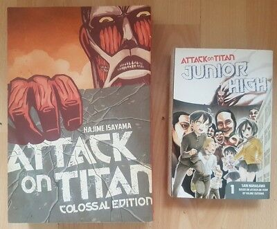 ATTACK ON TITAN Colossal Edition 1-5 + Junior High Manga Collection RARE Volumes