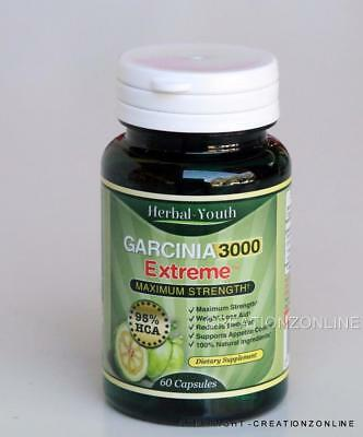 Garcinia Cambogia 3000 EXTREME  MAXIMUM STRENGTH 500 MG PER CAPSULE   95% HCA