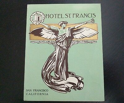 1904 Hotel St Francis Brochure ~ San Francisco California
