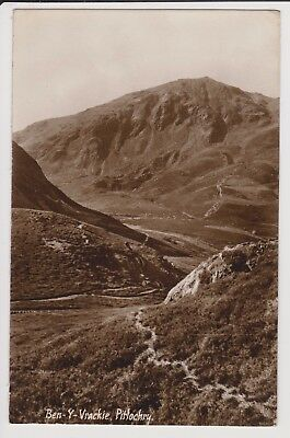 Real photo postcard,Ben-Y-Vrackie, Pitlochry, Scotland posted 1950