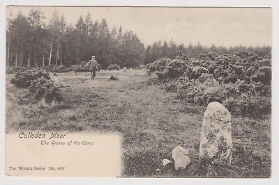 Antique Postcard Culloden Moor The Graves of the Clan Posted 1909