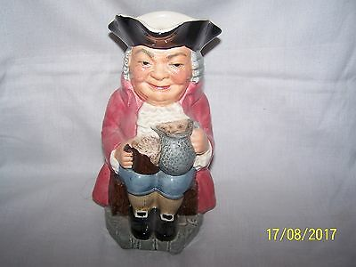Kelsboro Toby/character Jug Man in pink coat seated holding tankard & jug 18cms