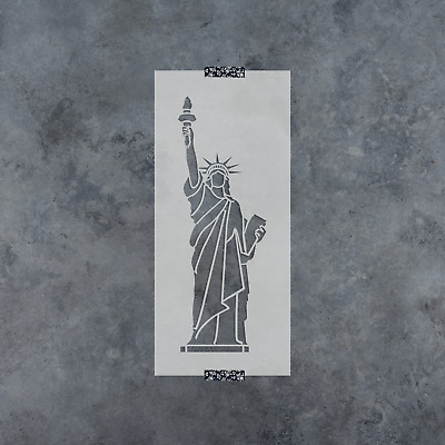 statue of liberty mylar stencil template airbrush paint wood usa