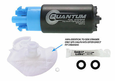 QUANTUM 340LPH Compact 65mm Fuel Pump & Install Kit Fit: Subaru WRX STI 2008-14