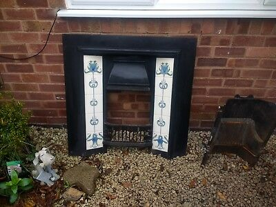 Gallery tiled cast iron Victorian style fireplace