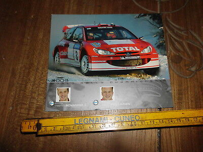 Rovampera Peugeot 206 Wrc 2003 Rally Card Postcard Cartolina Karte