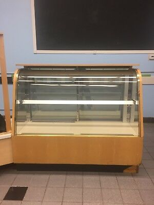 "60"" Millrock  Refridgerated Curved Glass Display"