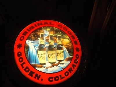 Vintage Adolph Coors Beer Light Up Sign Golden Colorado