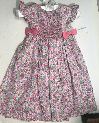 NWT Edgehill Collection Sz 2T Smocked Floral Dress $58