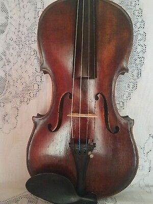 Old Antique Violin  ,full Size  May Be French Or Italy