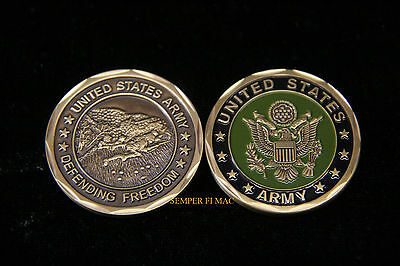 Defenders Of Freedom Us Army Challenge Coin Graduation Retirement Promotion Gift