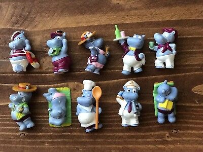 Kinder Surprise Set - Happy Hippos Vacation Holiday Europe 1995 - Figures