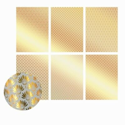 ULTIMATE CRAFTS 12 x A4 Ritz Collection GOLD FOILED VELLUM 210 x 297mm 157832