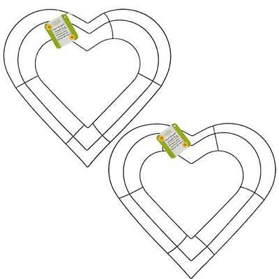 "12"" Heart Shaped Metal Wire Wreath Frame (2 per package)"